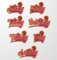 Decorative Text Days vector image