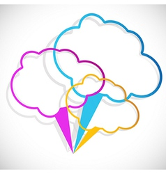 Cloud stickers vector