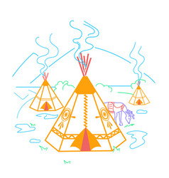 life indigenous people vector image