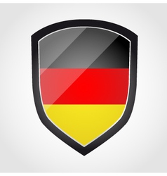 Shield with flag inside Germany vector image