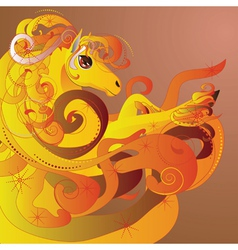 Flaming horse2 vector