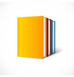 Book cover set perspective  books shelf icon vector