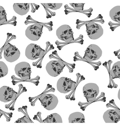 Seamless pattern jolly roger skull and crossbones vector