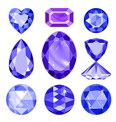 Set of colored gems vector