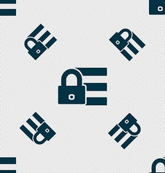 Lock login icon sign seamless pattern with vector