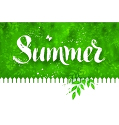 Summer word brush lettering vector