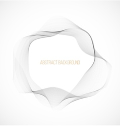 Abstract gray wavy circle background vector image