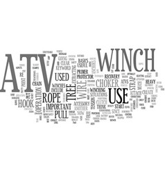 Atv winch text word cloud concept vector