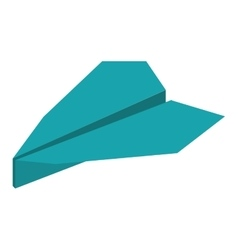 Blue paper plane origami funny vector