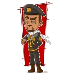 Cartoon soldier with beret and scarf vector image vector image