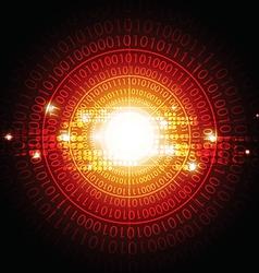 Circle digital background vector
