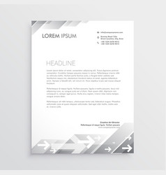 Clean gray letterhead design template vector