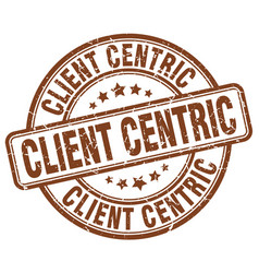 Client centric brown grunge stamp vector