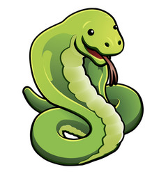 Cute cobra snake vector