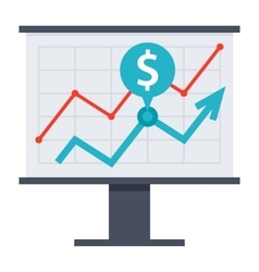 Financial strategy icon vector