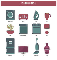 household items vector image