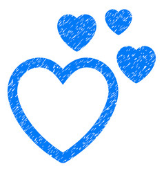 love hearts grunge icon vector image