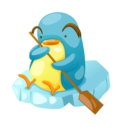 Penguin paddling vector