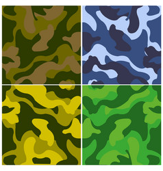 Sample fabrics camouflage vector