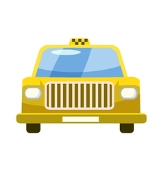 Taxi car icon in cartoon style vector image