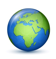 World Globe Map - Africa Europe vector image vector image