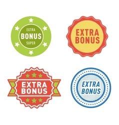 Extra bonus labels set vector