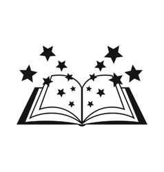 Magic book icon simple style vector image