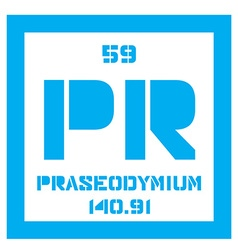 Praseodymium chemical element vector