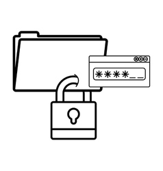 Isolated file and padlock design vector