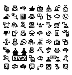 Big communication icons set vector