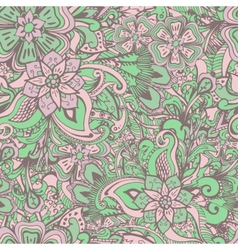 Seamless floral bacckground with stylized indian vector