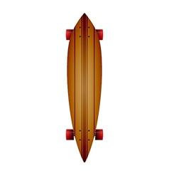 wooden longboard vector image