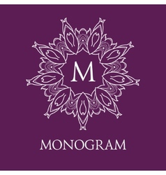 Simple and elegant monogram design template with vector
