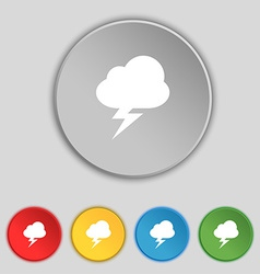 Storm icon sign symbol on five flat buttons vector