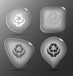 Protection nature glass buttons vector