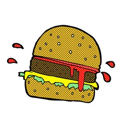 Comic cartoon burger vector