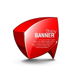 Abstract shiny glass banner red vector