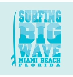 surfing Miami Beach Florida vector image