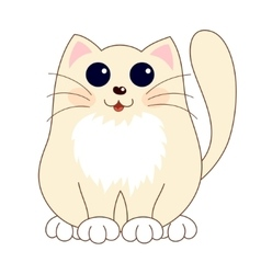 Cartoon smiling gentle beige kitty with ginger vector