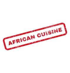 African Cuisine Text Rubber Stamp vector image