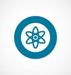 Atom bold blue border circle icon vector