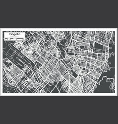 Bogota colombia city map in retro style outline vector