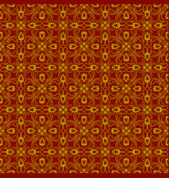 brown plant seamless pattern background vector image