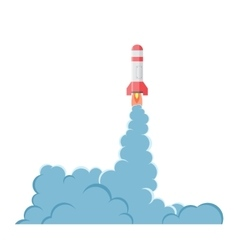 Cartoon bomb explosion with smoke vector image vector image