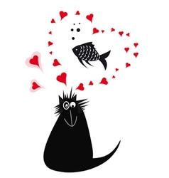Cat love 2 vector