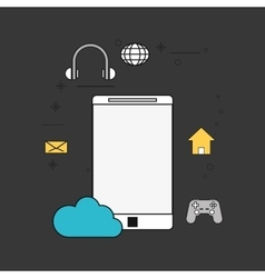cellphone and telecommunication icons vector image