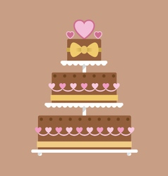 Chocolate wedding cake vector image