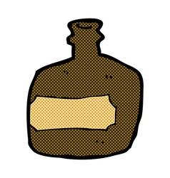 Comic cartoon whisky jar vector