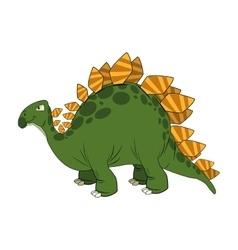 Cute cartoon dinosaur comic vector