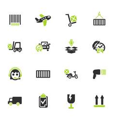 Delivery service icon set vector